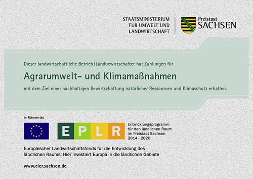 Zertifikate der Agrargenossenschaft e.G. Königswalde Europäischer Landwirtschaftsfonds für die Entwicklung des ländlichen Raums (ELER)